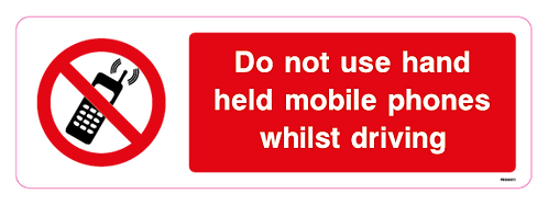 Do not use hand held mobile phones whilst driving