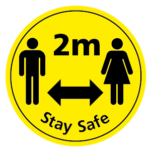 2m Stay Safe floor sticker