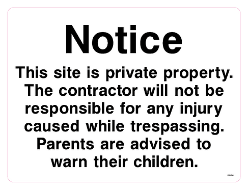Notice This site is private property.
