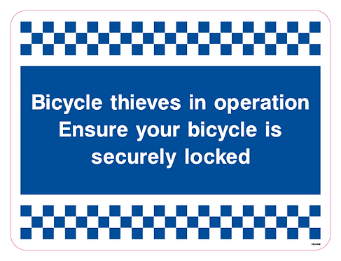 Bicycle thieves in operation Ensure your bicycle is securely locked