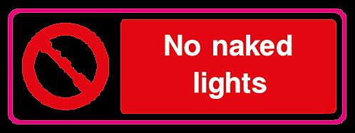 No naked lights