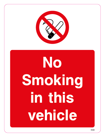 No smoking in this vehicle