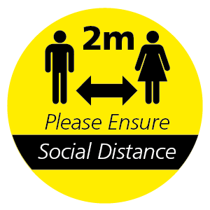 2m Please Ensure Social Distance floor sticker