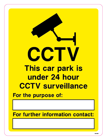 CCTV - This car park is under 24 hour CCTV survellieance - For the purpose of: