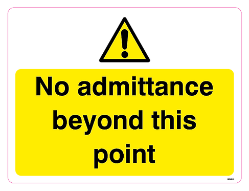 No admittance beyond this point