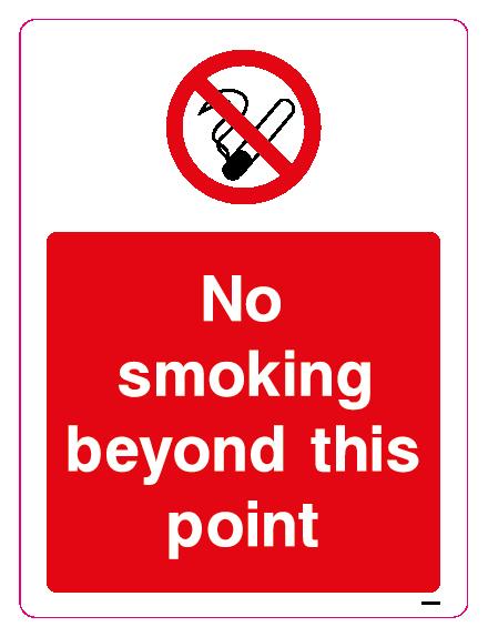 No smoking beyond this point
