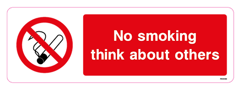 No smoking think about others