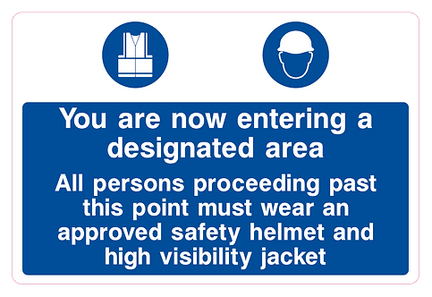 You are now entering a designated area
