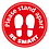 Thumbnail: Please stand apart BE SMART floor sticker