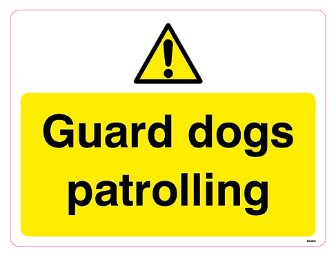 Guard dogs patrolling