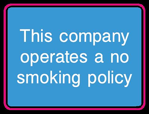 This company operates a no smoking policy