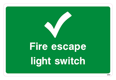 Fire escape light switch