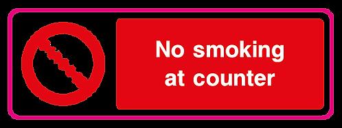 No smoking at counter