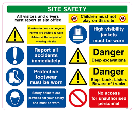 SITE SAFETY All visitors