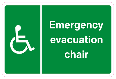 Emergency evacuation chair disabled