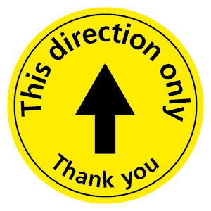 This direction only Thank you floor sticker