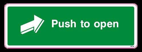 Push pad to open Arrow Right