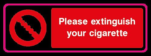 Please extinguish your cigarette