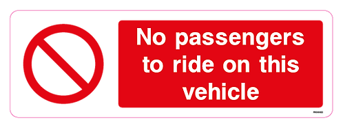 No passengers to ride on this vehicle