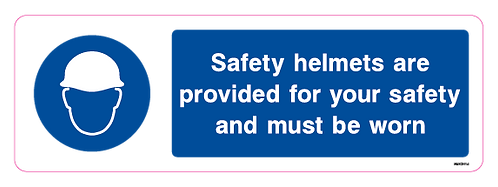 Safety Helmets are provided for your safety and must be worn