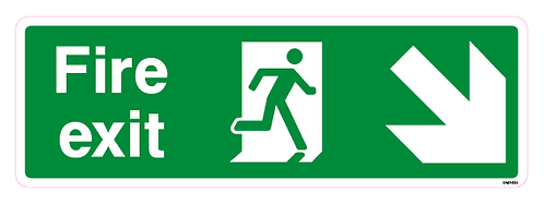 Fire Exit Arrow Down