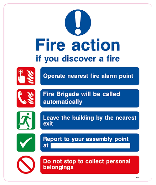 Fire action if you discover a fire