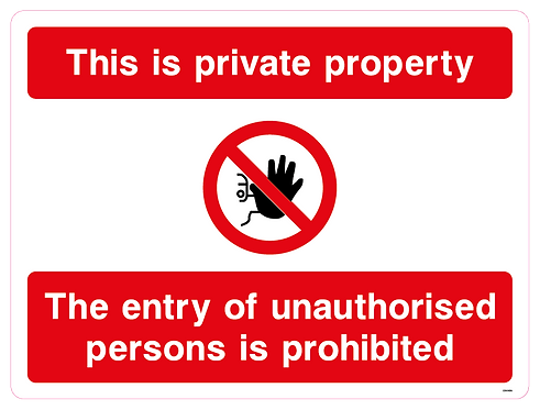 This is private property