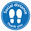 Thumbnail: Social distance Thank you floor sticker