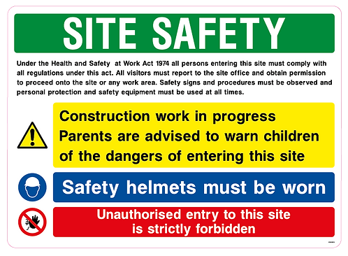 SITE SAFETY - Work act 1974