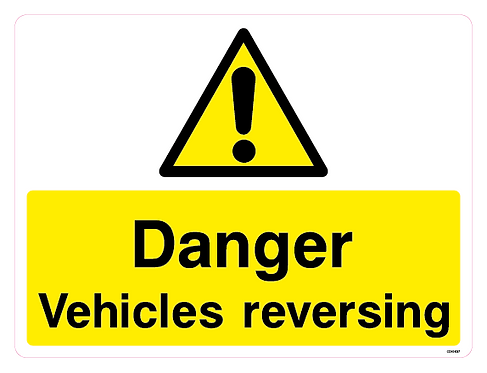 Danger Vehicles reversing
