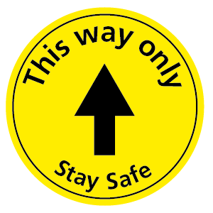 This way only Stay Safe floor sticker