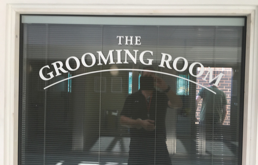 Cut lettering to glass