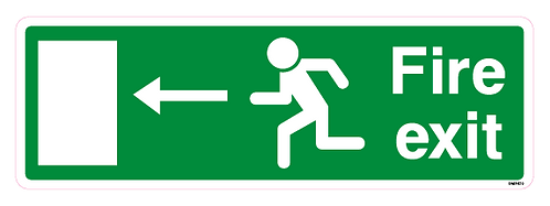 Fire exit Arrow Left