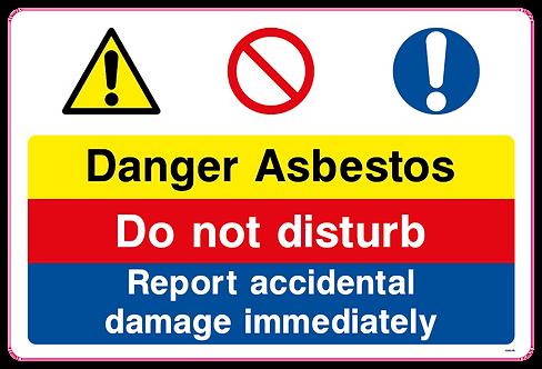 Danger Asbestos Do not disturb