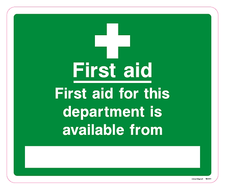First aid for this department is availabel from