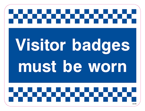 Visitor badges must be worn