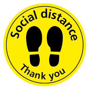 Social distance Thank you floor sticker