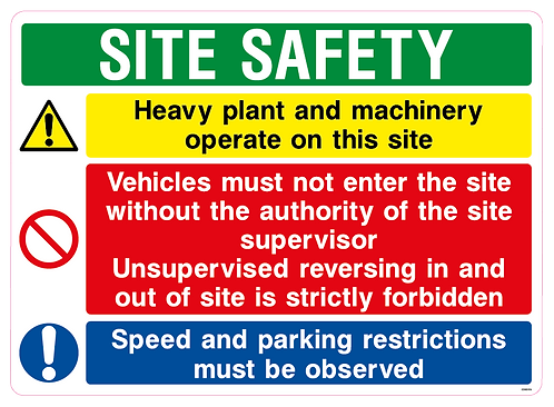 SITE SAFETY Heavy plant