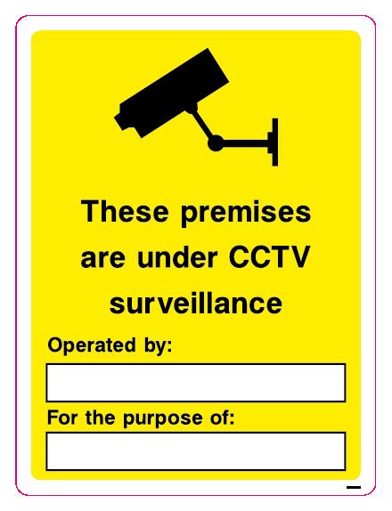 CCTV - These premises are under CCTV surveillance