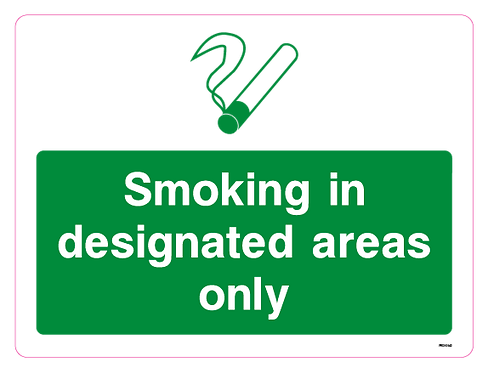 Smoking in designated areas only