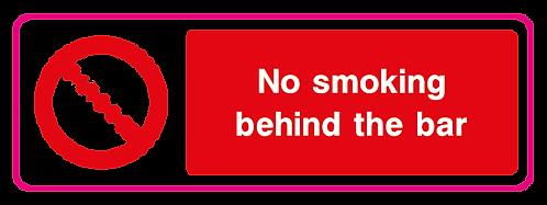 No smoking behind the bar
