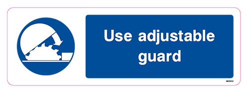 Use adjustable guard
