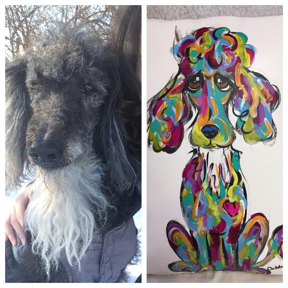 Custom Rainbow Style Poodle