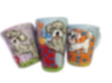 Dog Mug Pet Portrait from photo handpainted on colorful coffee mug latte mug with whimsical pet paintiing