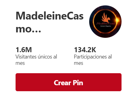 Pinterest Analytic madeleinecasmo magazine 29/09/18