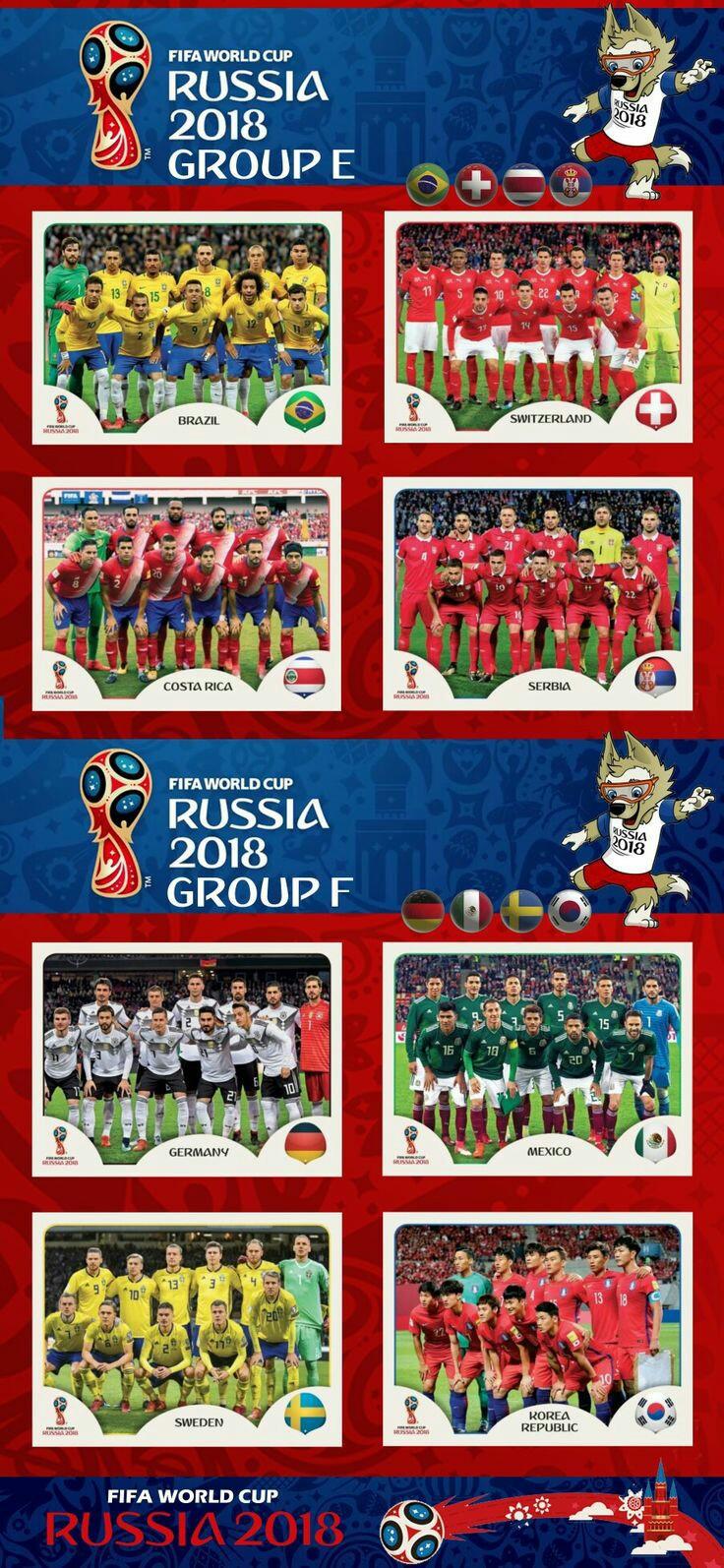 Grupos E y F - Rusia 2018