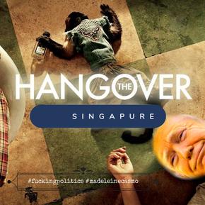 The Hangover Singapore Edition Trump, Rodman y Kim.
