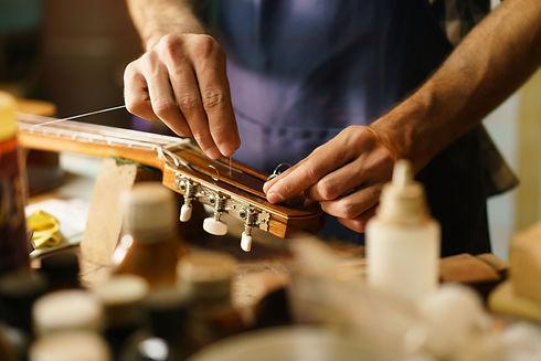Fixing guitar headstock