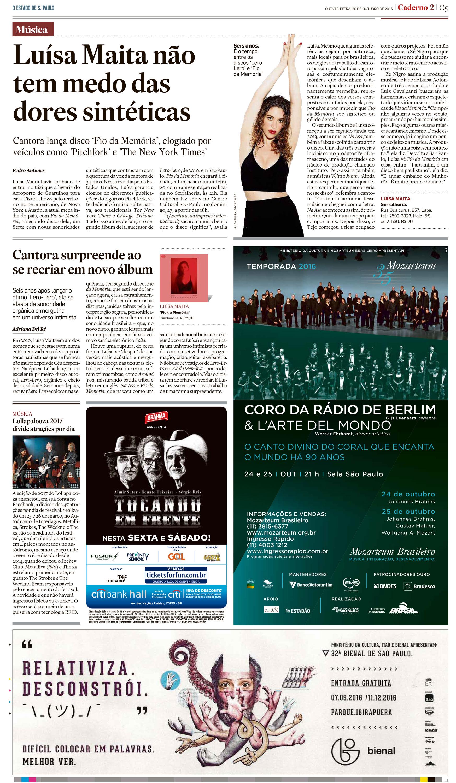 Jornal Estado de São Paulo_Caderno2
