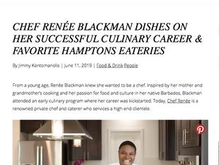 Hamptons Magazine Featuring Chef Renee Blackman